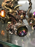 Small Cute Baby Dragon w/Gem -choose your color! - Cast a Stone