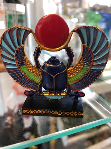 Egyptian Winged Scarab Statue
