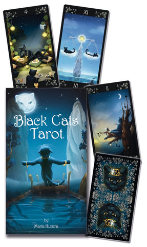 Black Cats Tarot by Maria Kurara - Cast a Stone
