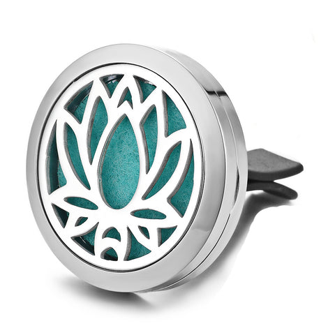 Lotus Car Diffuser Aromatherapy Locket - Cast a Stone