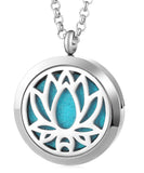 Lotus Flower Aromatherapy Locket Pendant - Cast a Stone