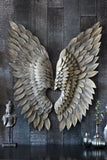 Greywash XL Angel Wing Wall Decor