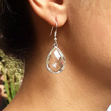 Quartz Gem Sterling Earrings