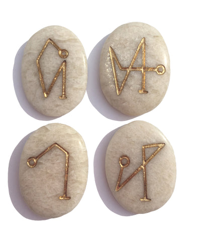 New! Archangel Pocket Stones on Moonstone *Limited Quantity! - Cast a Stone