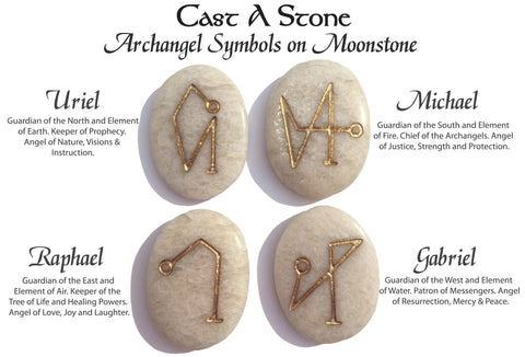 New Archangel Pocket Stones On Moonstone Limited Quantity Cast