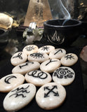 NEW! Moonstone Witch's Runes in Black (set of 13)