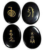 Clearance! XL Palm Sized Reiki Stones in Black Obsidian
