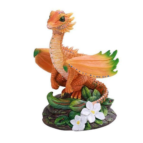 Orange Dragon Statue