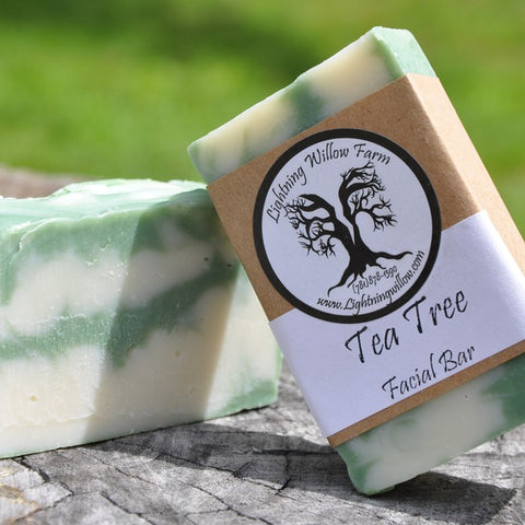 Lightning Willow Farm Tea Tree Facial Bar
