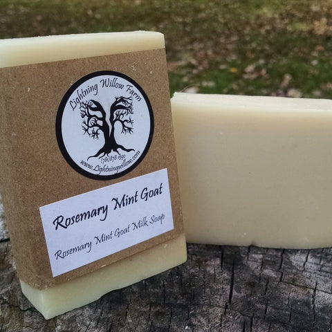 Lightning Willow Rosemary Mint Goat Everyday Soap