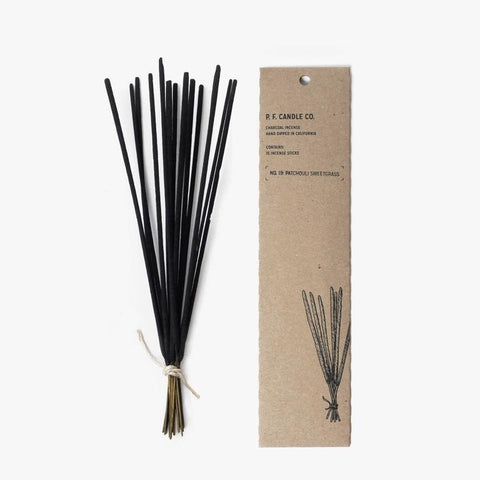 No. 19 Patchouli Sweetgrass Charcoal Incense sticks