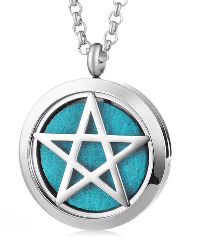 Pentacle Aromatherapy Locket Pendant - Cast a Stone