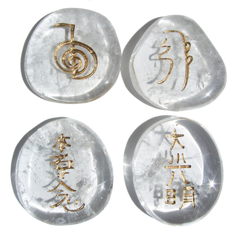 Quartz Reiki Stones© set of 4 - Cast a Stone