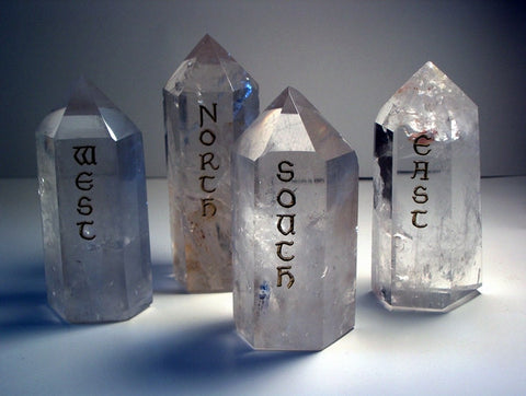 Polished Quartz Points Directionals set of 4