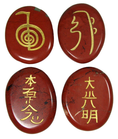 Red Jasper Reiki Stones© set of 4 - Cast a Stone