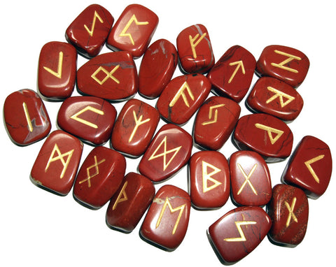 Red Jasper Runes Set - Cast a Stone