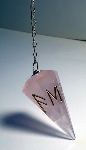 Runic Pendulums - Your choice of stone - Cast a Stone
