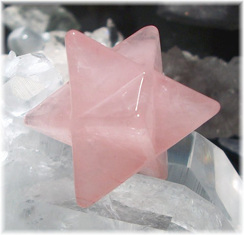 2 inch Merkabas Rose Quartz