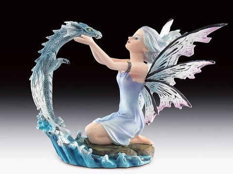 Water Fairy with Dragon Statue