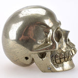 Pyrite carved natural Crystal Skull - Cast a Stone