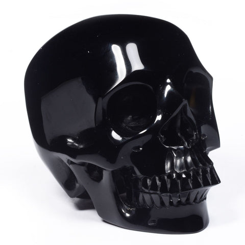 Large Natural Black Obsidian Skull 4.92in