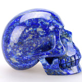 Lapis Lazuli carved natural Crystal Skull - Cast a Stone