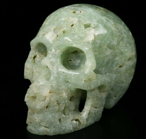 Prehnite Natural Crystal Skull 5""