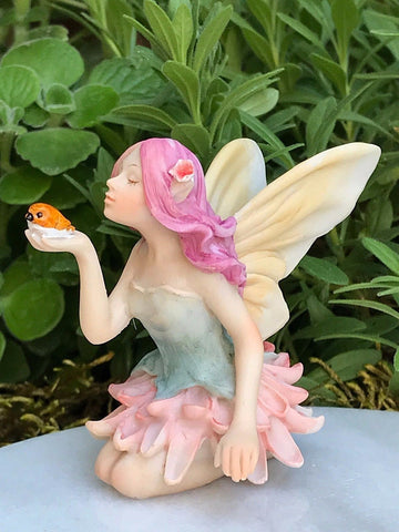 Mini Flower Fairy with Bird Fairy Garden Miniature