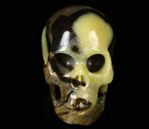 Septarian Stone Natural Crystal Skull 5""
