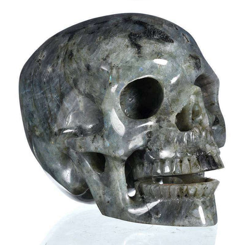 Labradorite Singing Natural Crystal Skull