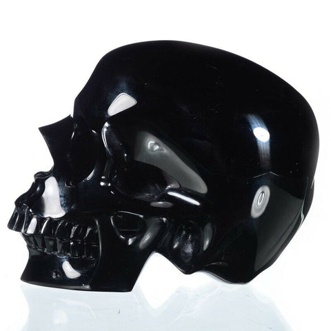 Black Obsidian XL Natural Crystal Skull 6.02""