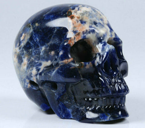 Sunset Sodalite Natural Crystal Skull