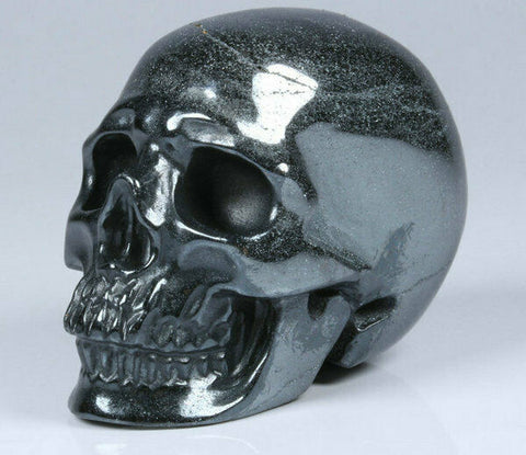 Hematite Natural Crystal Skull