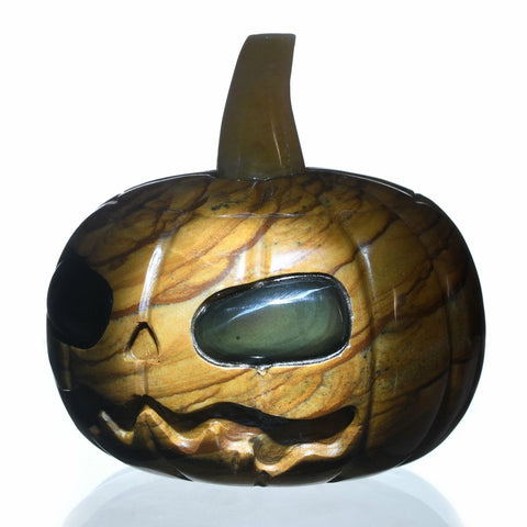 Picture Jasper Natural Crystal Pumpkin Skull