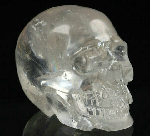 Clear Quartz Natural Crystal Skull