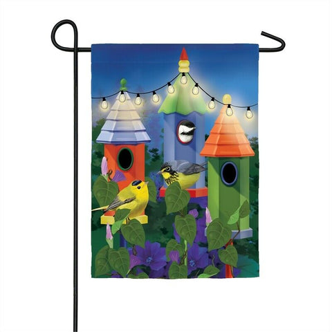 Birdhouse Lights Solar LED Garden Flag