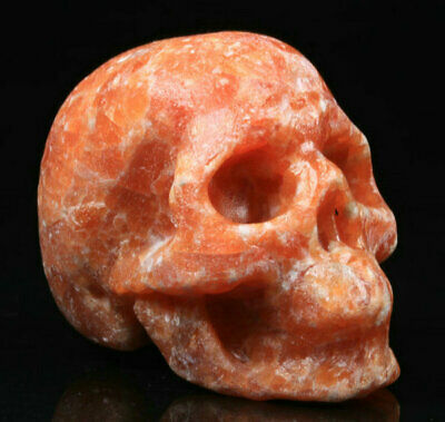 Orange Calcite Natural Crystal Skull