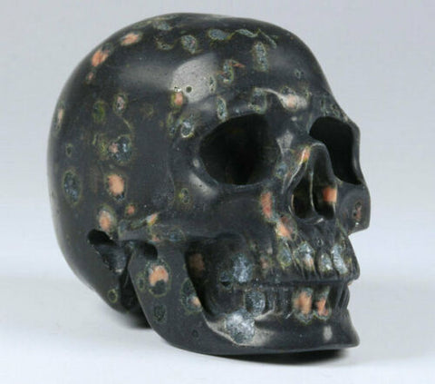 Poppy Jasper Natural Crystal Skull