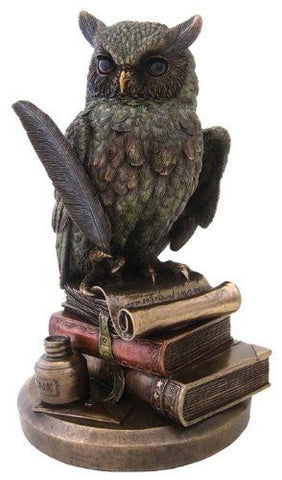 Eagle Owl on Books Figure
