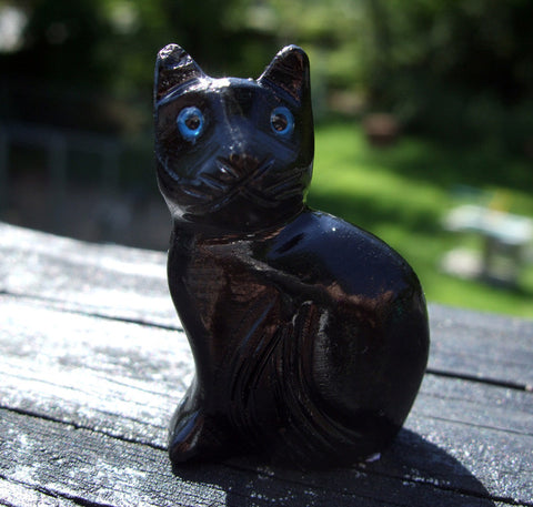 "1.5"" Onyx pocket Black Cat - Cast a Stone"