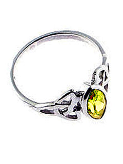 Celtic Knot & Lemon Topaz Sterling Silver Ring