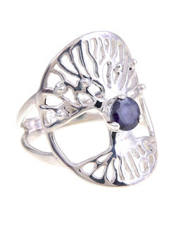 Tree of Life Symbol Kyanite Ring
