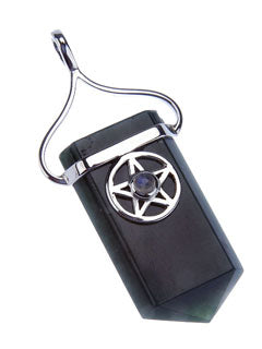 Pentacle Protection Pendant with Black Tourmaline