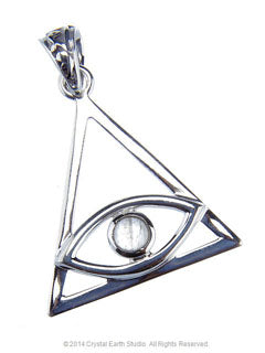 All Seeing Eye Pendant with Moonstone