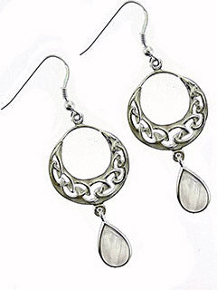 Celtic Knot Moonstone Gemstone Earrings