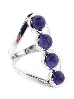 Artisan Amethyst Ring Handmade Sterling Ring