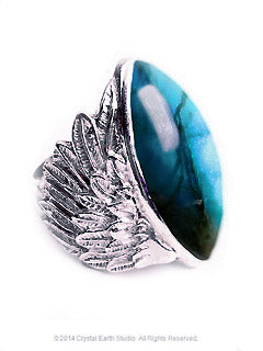 Wings Labradorite Sterling Silver Symbolic Ring