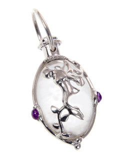 Fairy Gem Garden Pendant on a Crystal Ball