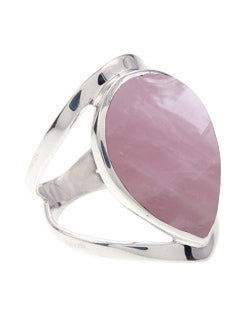 Tear Shaped Rose Quartz Ring
