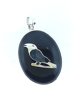 Secret Raven Black Tourmaline Sterling Pendant